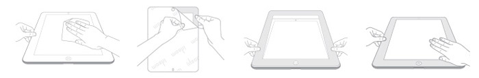 Moshi iVisor Anti Glare Screen Protector for iPad Mini - White