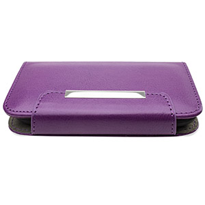 Leather Style Wallet Case for Samsung Galaxy S3 Mini - Purple