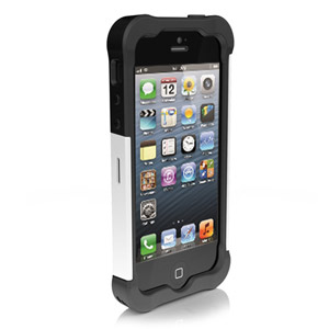 Ballistic Shell Gel Case for iPhone 5 - White/Black