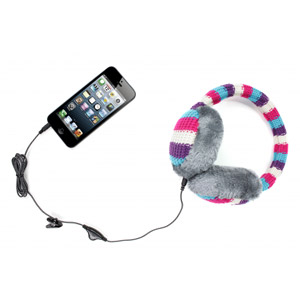 KitSound Audio Earmuff Headphones - Stripes
