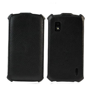 Melkco Leather Flip Case for iPhone 5 -  Black