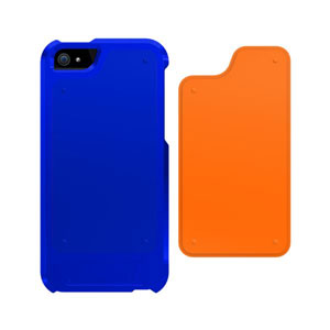 Trident Apollo 2-in-1 Snap-on Case for iPhone 5 - Navy/Orange