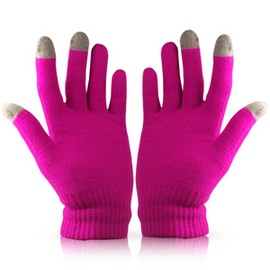 Touch Tip Gloves For Capacitive Touch Screens - Pink