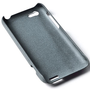 Rock Ultra Thin Quicksand Hard Faceplate for HTC Desire C - Grey