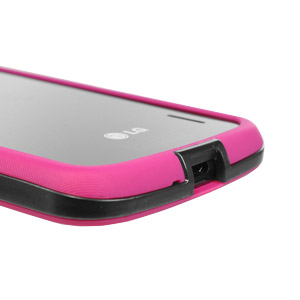 GENx Hybrid Bumper Case for Google Nexus 4 - Pink