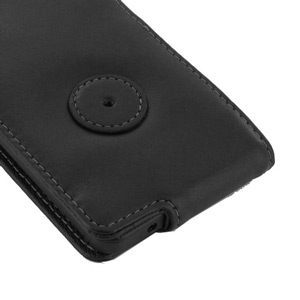 PDair Leather Flip Case for Blackberry Z10 - Black