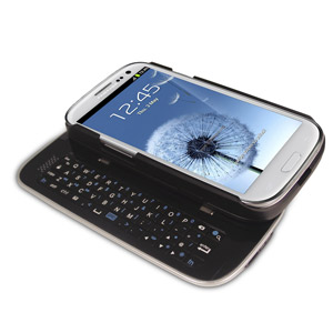 Wireless Sliding Keyboard and Case for Samsung Galaxy S3 - Blac