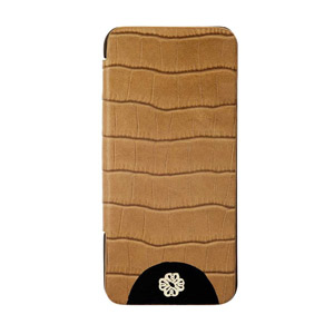 Mischa Barton Luxury Croc Finish Leather Case for iPhone 5 - Brown