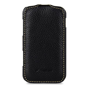 Melkco Leather Flip Case for Galaxy Mini 2 - Black