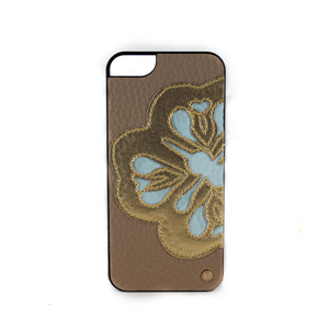 Mischa Barton-Laser Cut Flower Case for iPhone 5- Gold