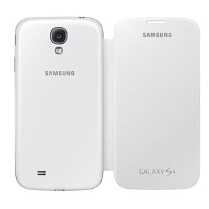 Genuine Samsung Galaxy S4 Flip Cover - White - EF-FI950BWEGWW