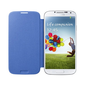 Genuine Samsung Galaxy S4 Flip Cover - Light Blue - EF-FI950BCEGWW