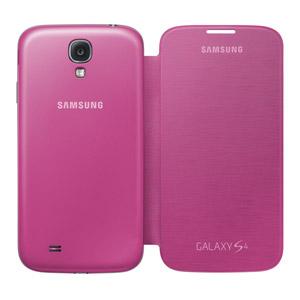 Genuine Samsung Galaxy S4 Flip Cover - Pink - EF-FI950BPEGWW