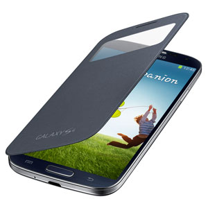 Genuine Samsung Galaxy S4 S View Cover - Black - EF-CI950BBEGWW