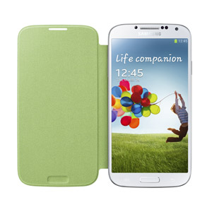 Genuine Samsung Galaxy S4 Flip Cover - Lime Green - EF-FI950BGEGWW