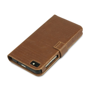Zenus Masstige BlackBerry Z10 Lettering Diary Case - Brown