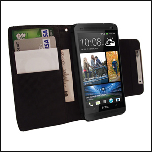 HTC One 2013 Wallet Case - Black