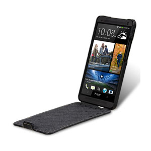 Melkco Premium Leather Flip Case for HTC One 2013 - Black