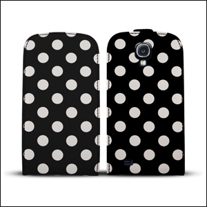 Polka Dots Case For Samsung Galaxy S4 - Black