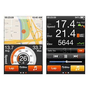GPS iBike application pour iPhone 5 / 4S / 4