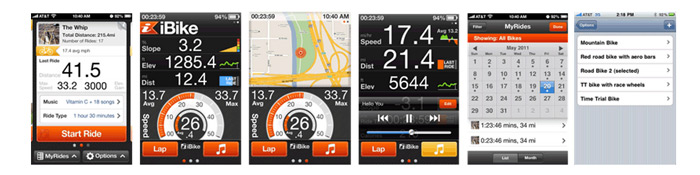 iBike GPS+ Computer for iPhone 5/4S/4