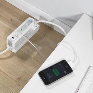 Masterplug Surge Protected 6 Plug Power Block