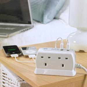 Masterplug Surge Protected 4 Plug Power Block