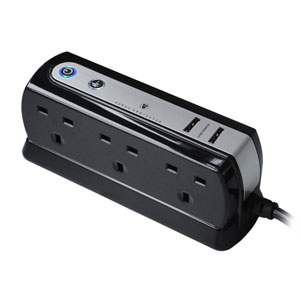 Masterplug Surge Protected 6 Plug Power Block