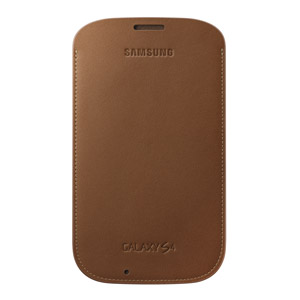 Genuine Samsung Galaxy S3 Leather Pouch - Camel - EF-LI950BAEGWW