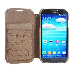 Zenus Masstige Samsung Galaxy S4 Lettering Diary Series - Pearl Brown