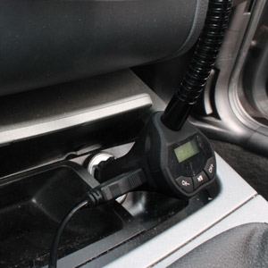 RoadWarrior Universal Micro USB Car Holder, Charger and FM Transmitter