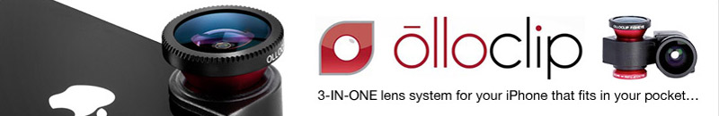 Olloclip iPhone 5 Fisheye, Wide-angle, Macro Lens Kit - Black