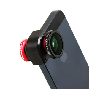 Olloclip iPhone 5 Fisheye, Wide-angle, Macro Lens Kit - Red