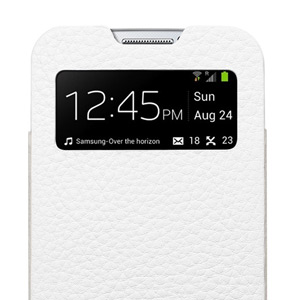 Spigen SGP Crumena Leather Pouch for Samsung Galaxy S4 - White