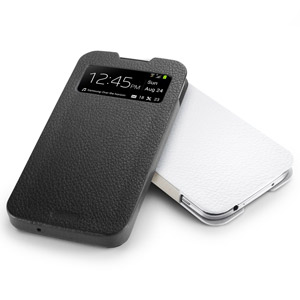 Spigen SGP Crumena Leather View Pouch for Samsung Galaxy S4 - Black