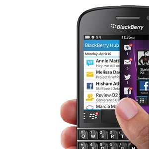 Sim Free BlackBerry Q10 - Black