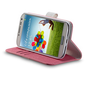 Momax Flip Diary Case for Samsung Galaxy S4 - Pink / White