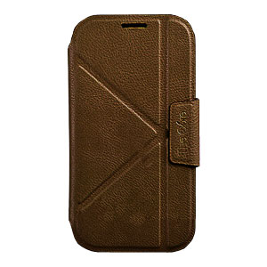 Momax The Core Leather Smart Case for Samsung Galaxy S4 - Brown