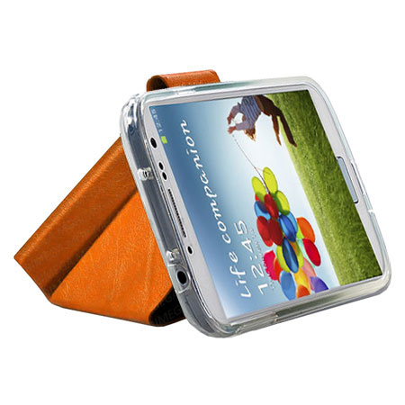 Momax The Core Leather Smart Case for Samsung Galaxy S4 - Orange