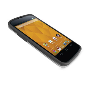 FlexiFrame Google Nexus 4 Bumper Case - Black / Clear