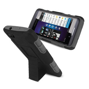 Rugged Stand Case for Samsung Galaxy S4 - Black