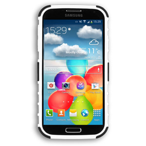 ArmourDillo Hybrid Protective Case for Samsung Galaxy S4 - White