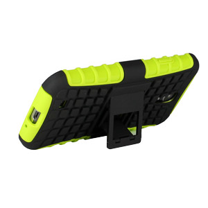 ArmourDillo Hybrid Protective Case for Samsung Galaxy S4 - Atomic Green