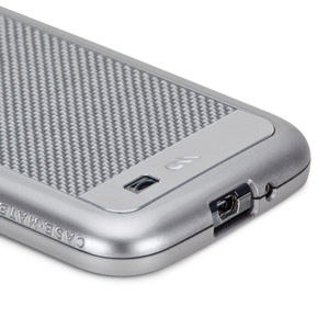 Case-Mate Crafted Carbon Fibre Samsung Galaxy S4 Case - Silver