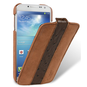Melkco Leather Jacka Type Case for Samsung Galaxy S4 - Brown