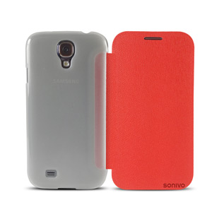 Sonivo Slim Wallet Case with Sleep/Wake Sensor - Red