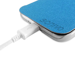 Sonivo Slim Wallet Case with Sleep/Wake Sensor - Blue