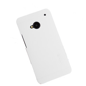 Nillkin Super Frosted Case For HTC One 2013 + Screen Protector - White