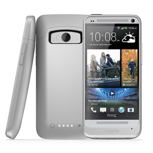Mophie Juice Pack Case for HTC One 2013 - Silver