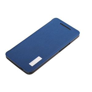 Rock Elegant Side Flip Case For HTC One - Lake Blue